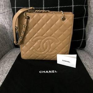 Authentic Chanel Matelasse Tote Bag